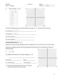 worksheet 12751650 parent function worksheet u2013 albertville high