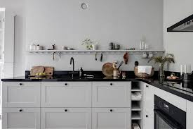 grey kitchen cupboards with black worktop kitchen in black and grey coco lapine designcoco lapine design