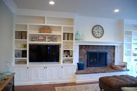 wall units awesome built in bookshelves around tv built in