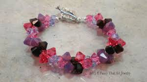 bead tutorials crystal bracelet images Swarovski crystal bicone bead bracelet video tutorial jpg