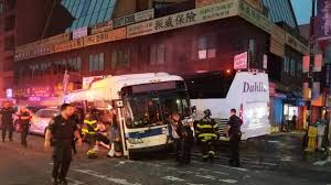 3 people killed more than a dozen injured in 2 bus crash in new