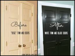 Interior Door Color Black Doors And White Trim Easy Project Big Impact Designer