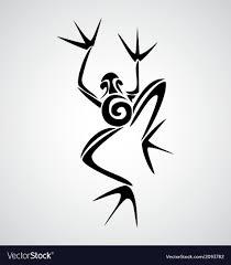 frog tribal royalty free vector image vectorstock