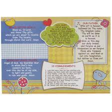 catholic prayer thanksgiving catholic prayer placemat for kids the catholic company