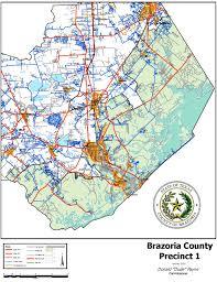 Tx County Map Precinct 1 Map Brazoria County Tx