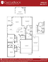 Floor Plan Castle Greeley Silver Home Plan By Castlerock Communities In Sunfield