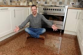 diy kitchen floor ideas kitchen set diy kitchen floor pennies 1 pspindy