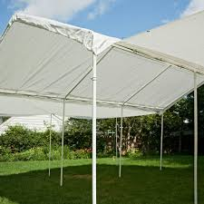 Enclosed Car Canopy by Shelterlogic 20 X 10 Ft All Purpose Canopy With Extension Hayneedle