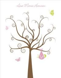 baby shower fingerprint tree tree clipart baby shower pencil and in color tree clipart baby