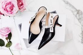 shoe of the month dior u0027j u0027adior u0027 kitten heel pumps 5 inch and up