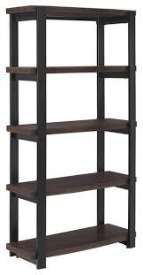 ameriwood home castling 4 shelf bookcase espresso and black