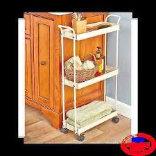 Rolling Bathroom Storage Cart by Small Rolling Storage Cart Kitchen Laundry Bathroom Dorm Office