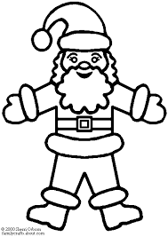 coloring pictures santa