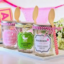 wooden party favors baby shower party favor ideas clear glass jar with