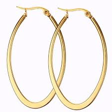 oval hoop earrings big smooth oval hoop earrings brincos brand loop earring
