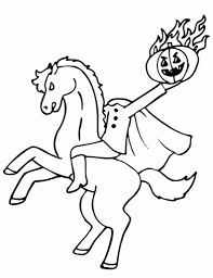 amazing headless horseman coloring pages pertaining to inspire in