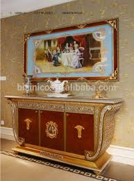 luxury french baroque mahogany gold leaf sideboard european