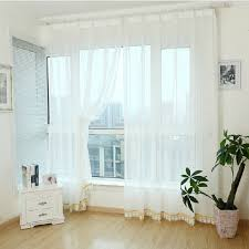White Sheer Curtains Fantastic White Sheer Curtains And Pattern White Sheer