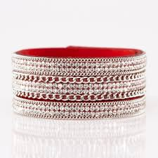 red wrap bracelet images Paparazzi jewelry red and silver thick wrap bracelet poshmark jpg