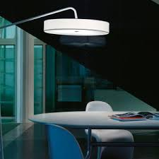 Small Arc Floor Lamp Lighting Office Room Design With Simple Arc Floor Lamp And Grey