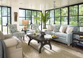 off white paint color for formal family room ideas with soft blue