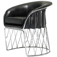 Leather And Chrome Chairs Italian Leather And Chrome Chairs By Tasem For Sale At 1stdibs