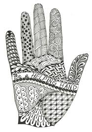 marianne u0027s musings hand zentangle