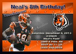 super bowl party invitation template nfl cincinnati bengals birthday invitations kustom kreations