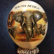 painted ostrich egg find more painted ostrich egg of south africa s big five for sale