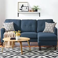 Sectional Sofa Blue Dorel Living Dorel Living Rosanna Reversible Sectional Sofa Blue