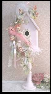 shabby chic svan ring holder images Shabby chic birdhouse beautiful pastel pink a must do project that jpg