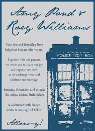 wedding invitations kent doctor who wedding invitation on etsy 16 41 aud i u guys