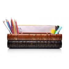 Leather Desk Organizer by Luxeover Books Desk Organizer