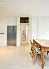 Hidden Dining Table Cabinet Entrance Room Ideas Dining Room Contemporary With Double Door
