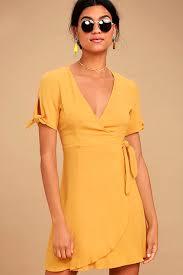 yellow dress yellow dress wrap dress sleeve dress 52 00