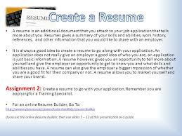 Create A Job Resume Getting A Job Soon You Will Be Looking For Your First Job Ppt