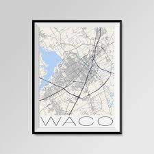 map waco waco map waco city map print waco map poster waco