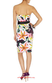 bcbg necklace stylish karen millen dn028 tropical lily print
