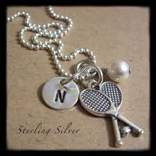 Sterling Silver Personalized Necklaces 48 Best Tennis Bling Images On Pinterest Tennis Tennis Gifts