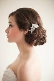 wedding curls inspiration low bun makeup reception side bun