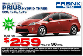 toyota prius leases 2012 toyota prius specials san diego county ca car frank