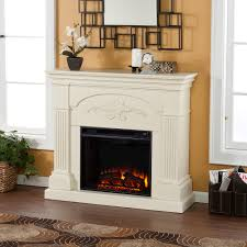 sicilian electric fireplace mantel package in ivory fe9275