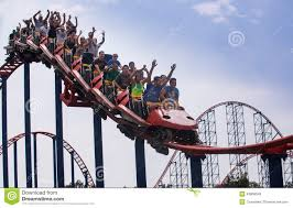 6 Flags Maryland Roller Coaster Amusement Park Editorial Stock Image Image 43806349