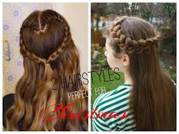 2 cute and easy christmas hairstyles youtube