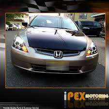 2004 honda accord headlights 2003 2007 honda accord 2dr coupe 4dr sedan halo projector led