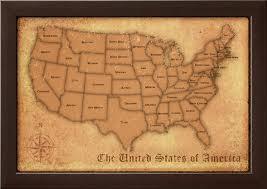map usa framed amazoncom 32x50 rand mcnally united states usa wall map framed