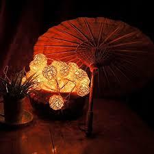 rattan ball fairy lights goodia led fairy light 4cm cream white rattan ball string light