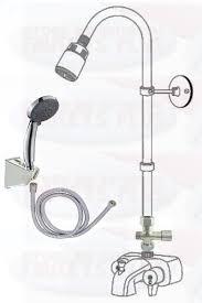 chrome three way add a shower clawfoot tub diverter faucet kit