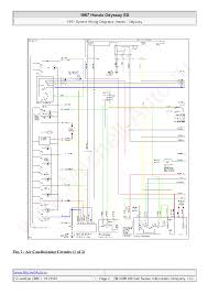 honda odyssey ex 1997 wiring diagrams sch service manual download