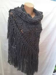 Handmade Poncho - new unique knit crochet handmade mohair shawl sweater wrap